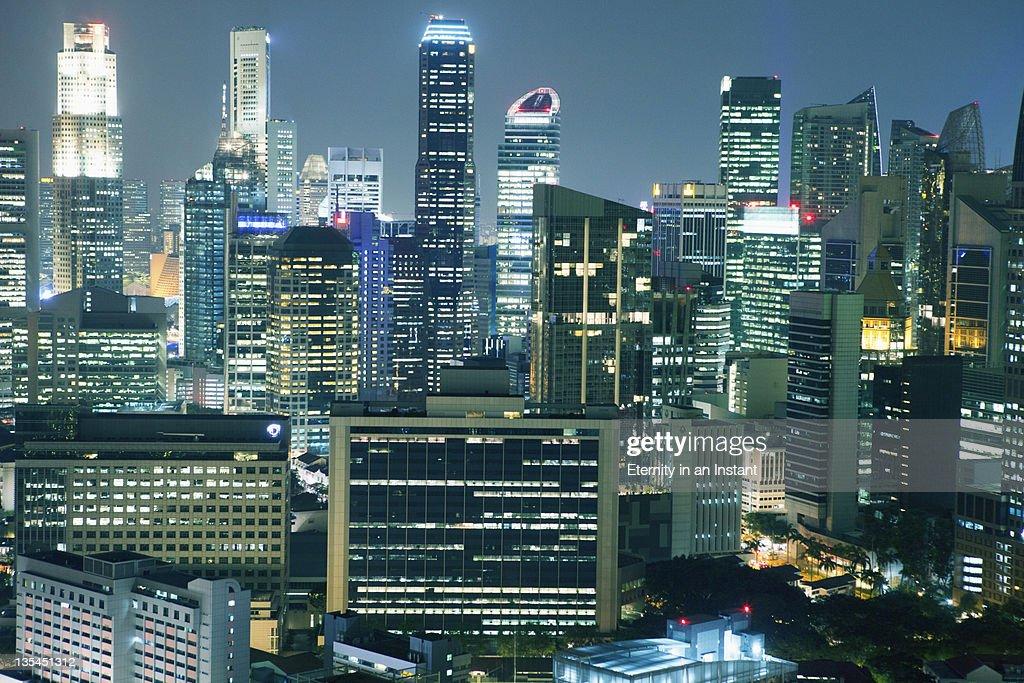 Singapore cityscape, Central Business District : Stock Photo