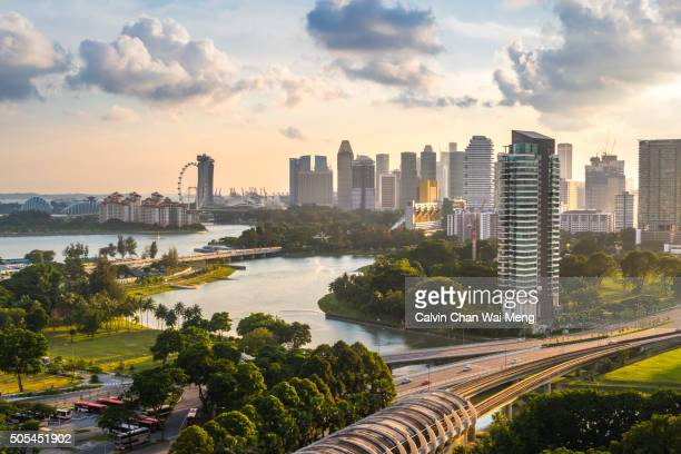 Singapore downtown buildings and cityscapes from Kallang area