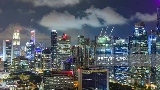 Singapore downtown buildings and cityscapes