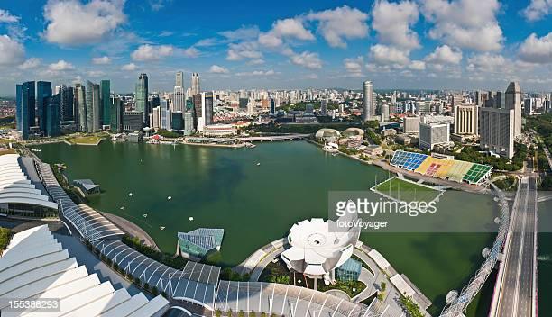 Singapore downtown cityscape panorama Marina Bay landmarks