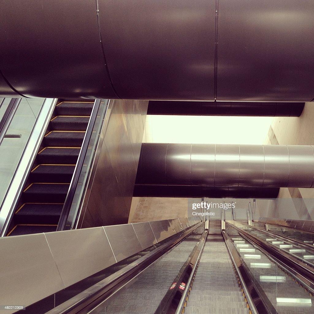Singapore, Escalators : Stock Photo