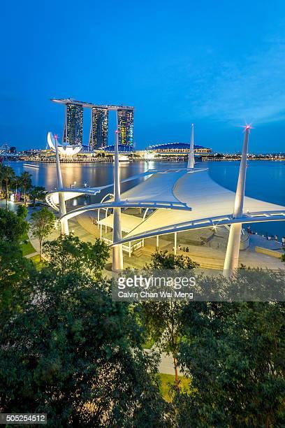 Singapore Esplanade Theatre and Marina Bay Waterfront