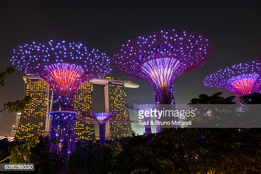Garden By The Bay Fireworks gardensthe bay singapore stock photo | getty images