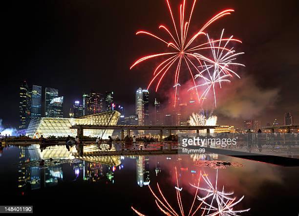 Singapore national day parade 2012 - fire stars