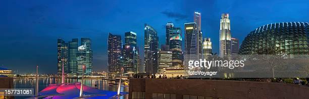 Singapore neon night colourful cityscape