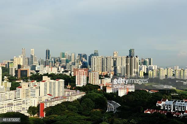 Singapore residential area skyline