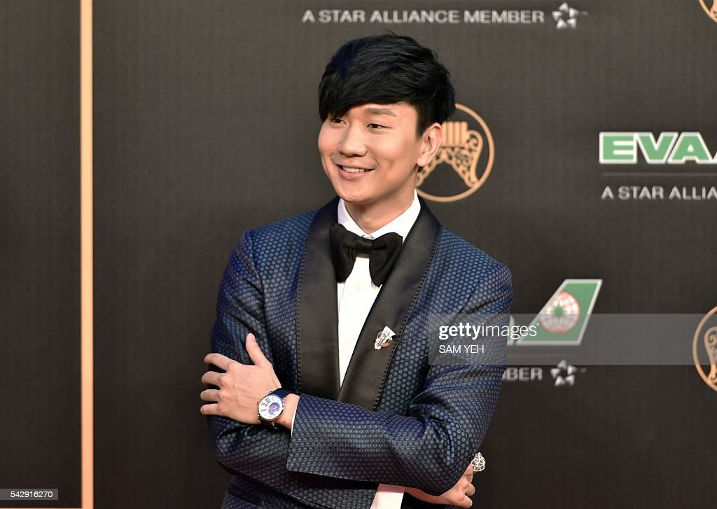 Singapore singer JJ Lin arrives to attend the 27th Golden Melody Awards in Taipei on June 25, 2016. Some of Mandarin pop's biggest names have gathered for the annual Golden Melody music awards, with singers, songwriters and composers from Taiwan, China, Hong Kong, Singapore and Malaysia competing in more than 20 categories. / AFP / SAM YEH