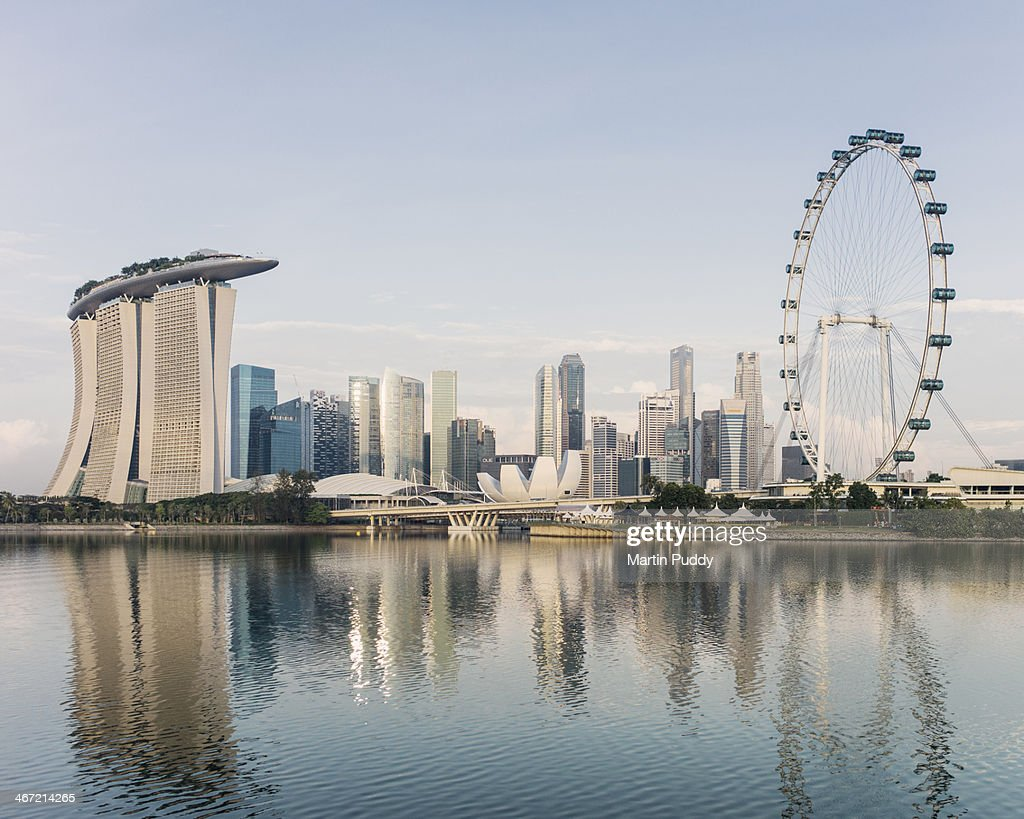 Singapore skyline, at dawn