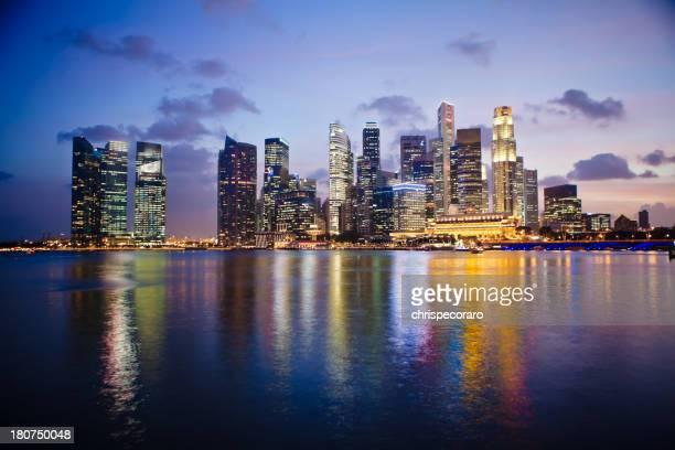 Singapore Skyline at Dusk - Financial District
