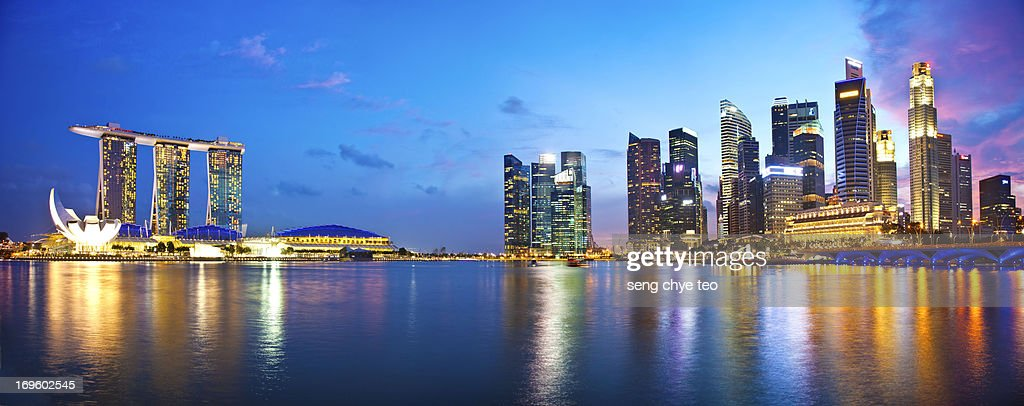 singapore skyline at Marina bay