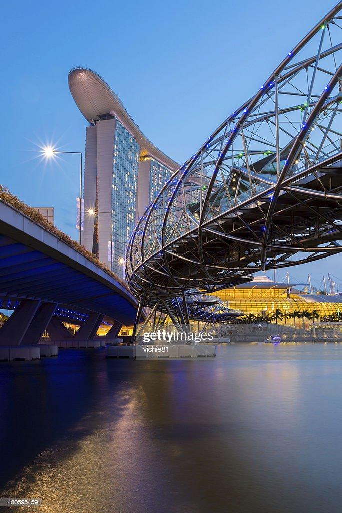 Singapore Skyline dusk : Stock Photo
