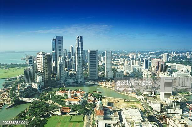 Singapore skyline, elevated view