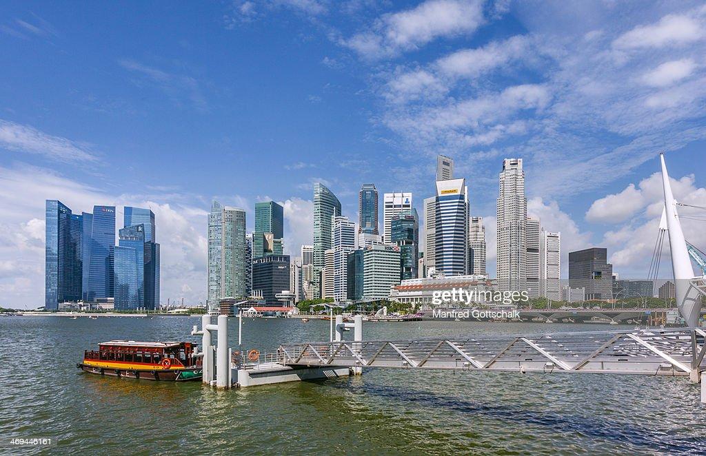 Singapore skyline from Marina Bay