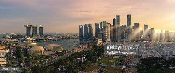 Singapore Skyline Panoramic View