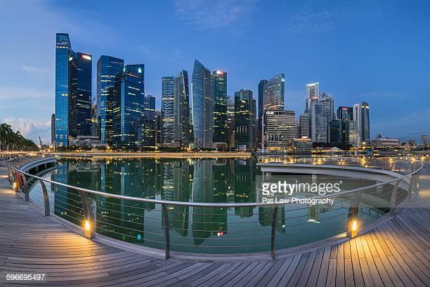 Singapore skyline panoramic view