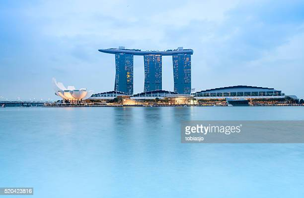 Singapore Skyline with Marina Bay Sands Hotel