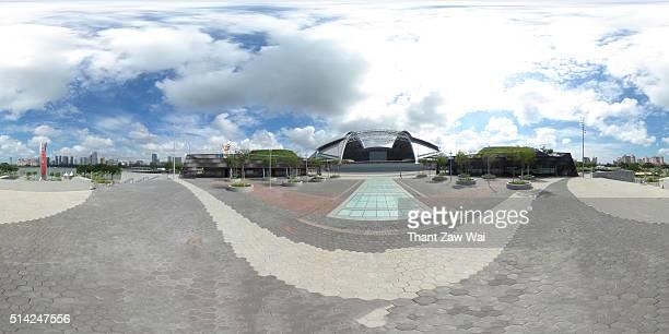 Singapore Sports Hub and Singapore Cityscape