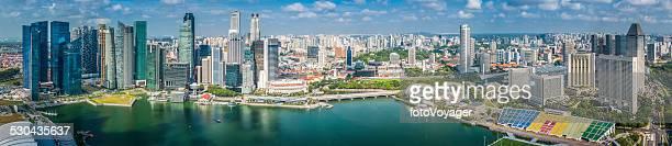 Singapore super panorama Luftbild der Innenstadt Wolkenkratzer in Marina Bay