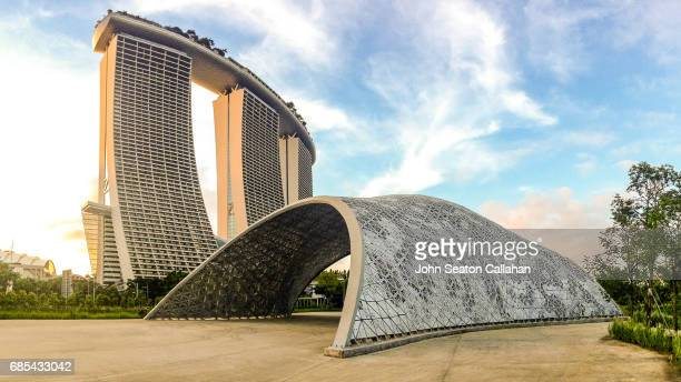 Singapore, the Marina Bay Sands from Gardens by the Bay