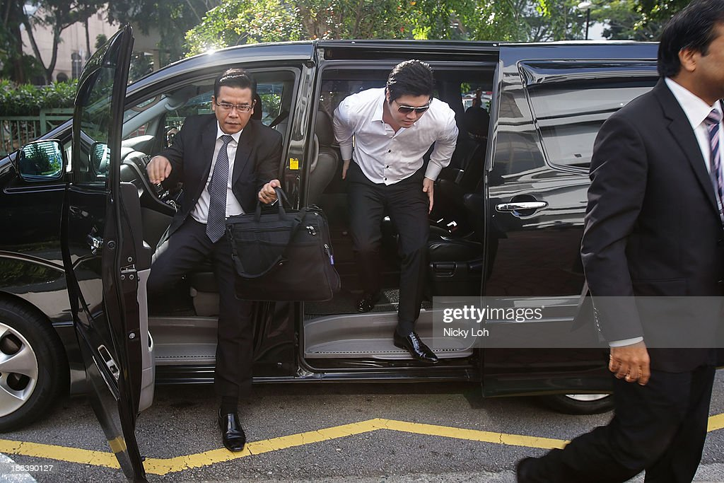 Singaporean businessman Eric Ding Si Yang arrives at the surbodinate court for his matchfixing trial on October 31 2013 in Singapore The 31yearold...