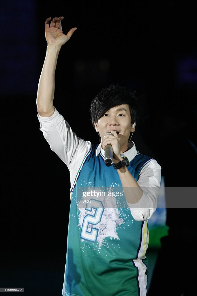 Singaporean <a gi-track='captionPersonalityLinkClicked' href=/galleries/search?phrase=JJ+Lin&family=editorial&specificpeople=3868242 ng-click='$event.stopPropagation()'>JJ Lin</a> attends a Sprite commercial event at Shanghai Grand Stage on July 21, 2011 in Shanghai, China.
