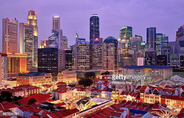 Singapore's Chinatown and Financial District