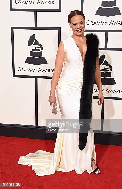 Singe Faith Evans attends The 58th GRAMMY Awards at Staples Center on February 15 2016 in Los Angeles California