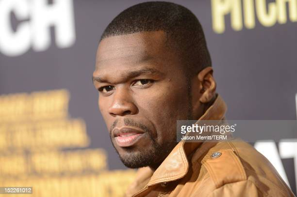 Singer '50 Cent' Curtis James Jackson arrives at the premiere of Open Road Films' 'End of Watch' at Regal Cinemas LA Live on September 17 2012 in Los...