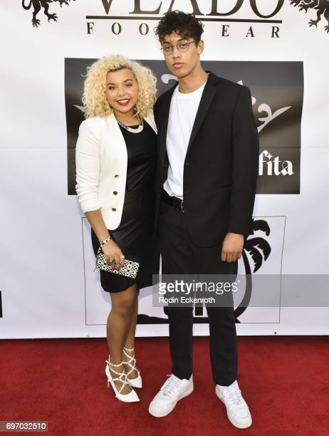 Singer Aaliyah Rose and actor Damon Tre attend the Single Release Party 'For Two' on June 16 2017 in Los Angeles California