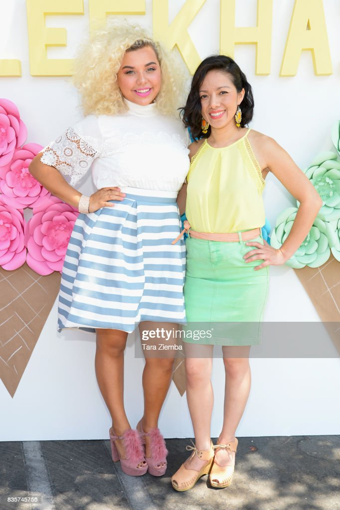 Singer Aaliyah Rose and COO of Sleekhair.com Joan Ngo attend the Sleek Sweet Shop Social on August 19, 2017 in Tustin, California.
