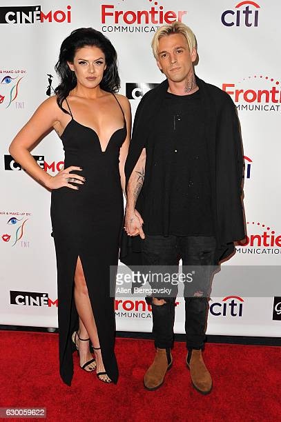 Singer Aaron Carter and girlfriend Madison Parker attend the 3rd Annual Cinefashion Film Awards at Saban Theatre on December 15 2016 in Beverly Hills...