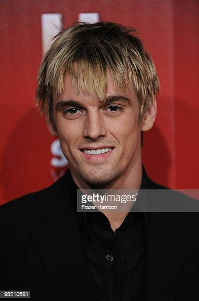 Singer Aaron Carter arrives at the Us Weekly Hot Hollywood Event at Voyeur on November 18 2009 in Los Angeles California