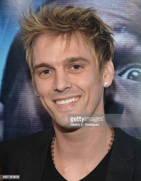 Singer Aaron Carter arrives to the premiere of Open Road Films' 'A Haunted House 2' at Regal Cinemas LA Live on April 16 2014 in Los Angeles...