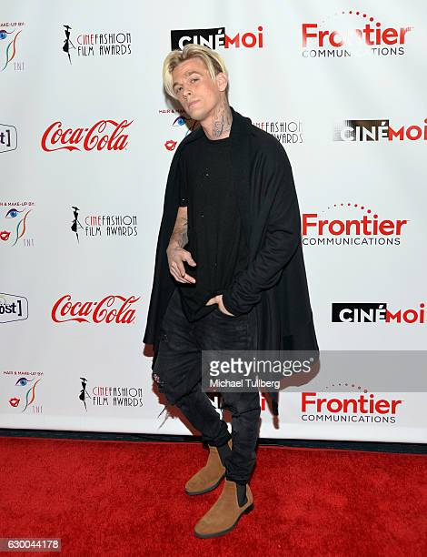 Singer Aaron Carter attends the 3rd Annual Cinefashion Film Awards at Saban Theatre on December 15 2016 in Beverly Hills California