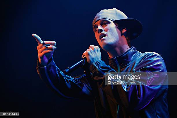 Singer Aaron Carter performs at the Gramercy Theatre on January 19 2012 in New York City