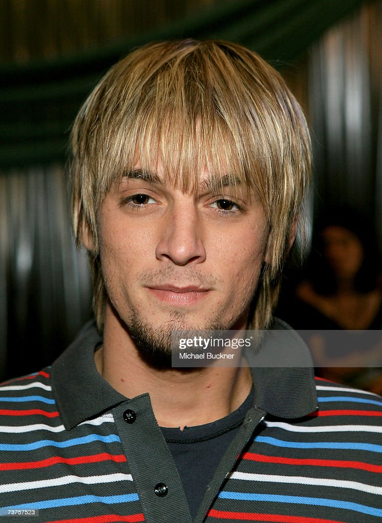 Singer Aaron Carter poses in the Distinctive Assets gift lounge during the 20th annual Kid's Choice Awards at Pauley Pavilion on March 31 2007 in Los...