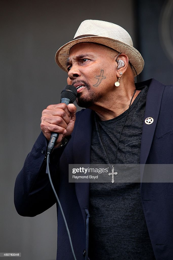 Singer Aaron Neville performs on the Petrillo Music Shell during the 31st Annual Chicago Blues Festival on June 15, 2014 in Chicago, Illinois.
