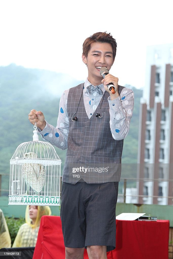 Singer Aaron promotes his first photobook on Sunday September 1,2013 in Taipei,China.