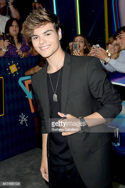 Singer Abraham Mateo attends the Univision's 13th Edition Of Premios Juventud Youth Awards at Bank United Center on July 14 2016 in Miami Florida