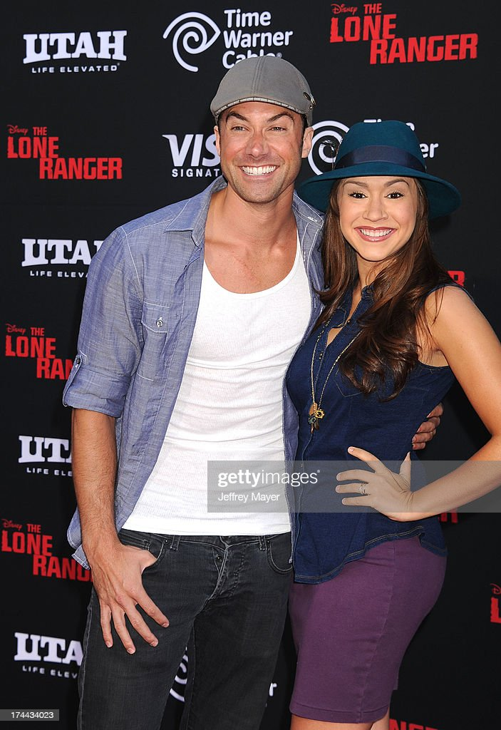 Singer Ace Young and Diana DeGarmo arrive at 'The Lone Ranger' World Premiere at Disney's California Adventure on June 22, 2013 in Anaheim, California.