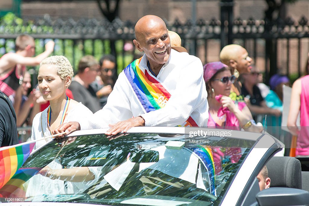 Singer, Activist and 2013 Grand Marshall <a gi-track='captionPersonalityLinkClicked' href=/galleries/search?phrase=Harry+Belafonte&family=editorial&specificpeople=204214 ng-click='$event.stopPropagation()'>Harry Belafonte</a> attends The March during NYC Pride 2013 on June 30, 2013 in New York City.