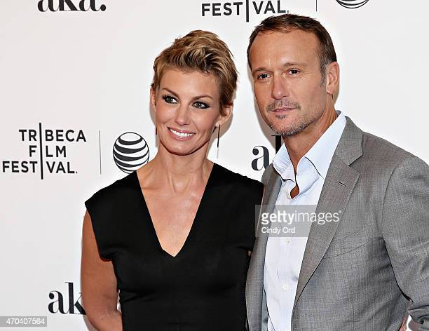 Singer/ actors Faith Hill and Tim McGraw attend the 'Dixieland' Premiere during the 2015 Tribeca Film Festival at SVA Theater on April 19 2015 in New...