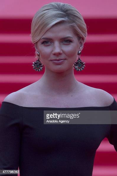Singer actress Anastasia Zadorozhna attends the opening ceremony of the 37th Moscow International Film Festival in Moscow Russia on June 2015