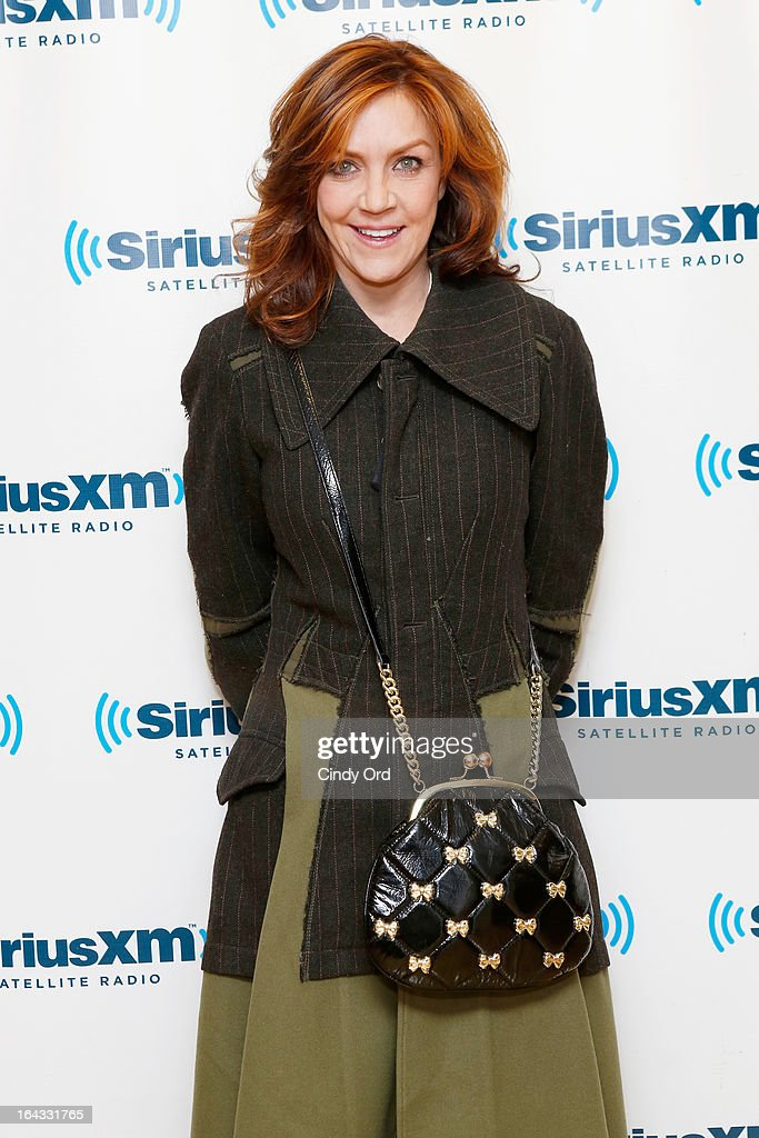 Singer/ actress Andrea McArdle visits the SiriusXM Studios on March 22, 2013 in New York City.