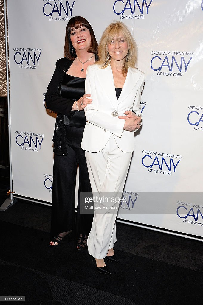 Singer/ actress Ann Hampton Callaway (L) and actress <a gi-track='captionPersonalityLinkClicked' href=/galleries/search?phrase=Judith+Light&family=editorial&specificpeople=214207 ng-click='$event.stopPropagation()'>Judith Light</a> attend the 2013 Creative Alternatives of New York 'The Pearl Gala' at The Edison Ballroom on April 29, 2013 in New York City.