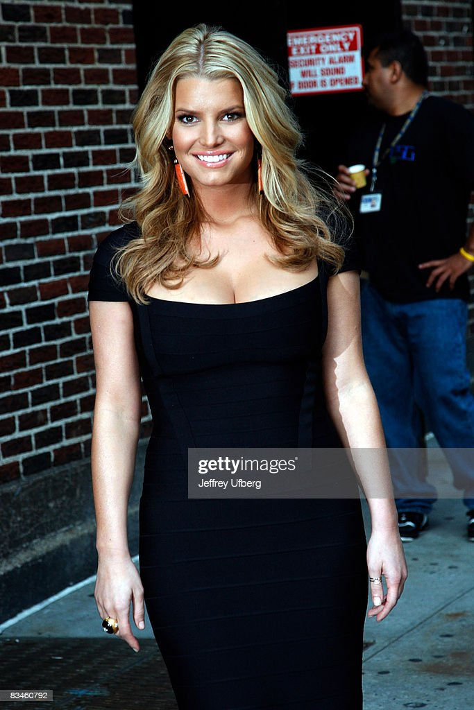 Singer / Actress Jessica Simpson visits the 'Late Show with David Letterman' at the Ed Sullivan Theatre on September 11, 2008 in New York City.