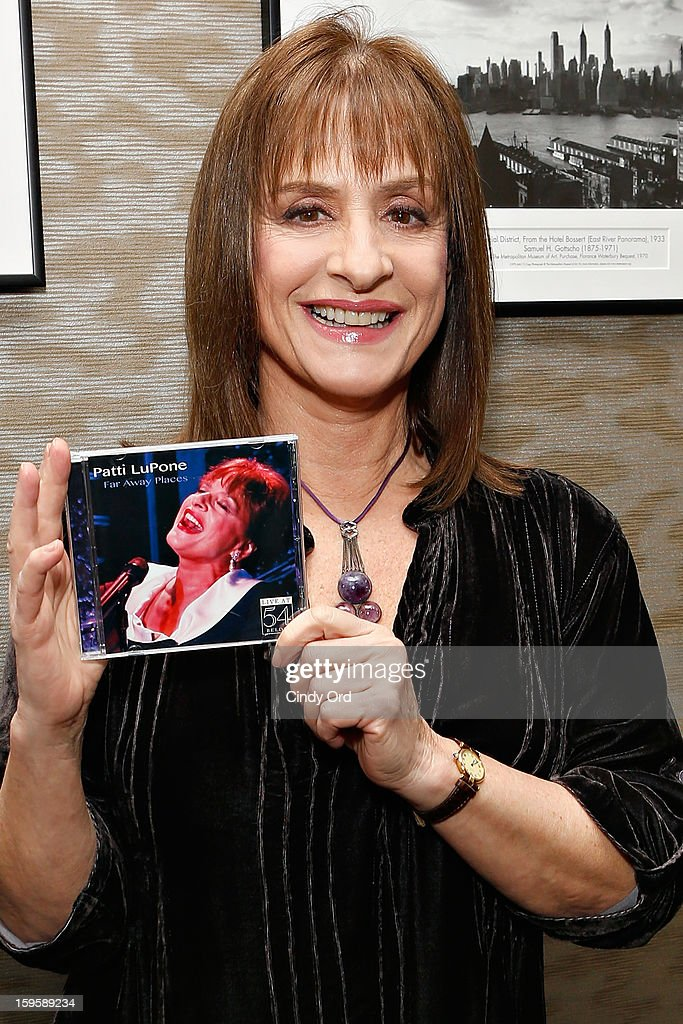 Singer/ actress Patti LuPone poses prior to a performance and CD signing at Barnes & Noble, 86th & Lexington on January 16, 2013 in New York City.