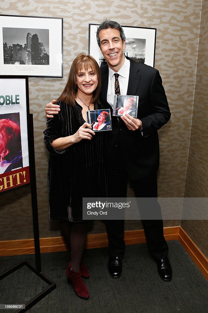 Singer/ actress <a gi-track='captionPersonalityLinkClicked' href=/galleries/search?phrase=Patti+LuPone&family=editorial&specificpeople=239072 ng-click='$event.stopPropagation()'>Patti LuPone</a> poses with composer Joseph Thalken prior to a performance and CD signing at Barnes & Noble, 86th & Lexington on January 16, 2013 in New York City.