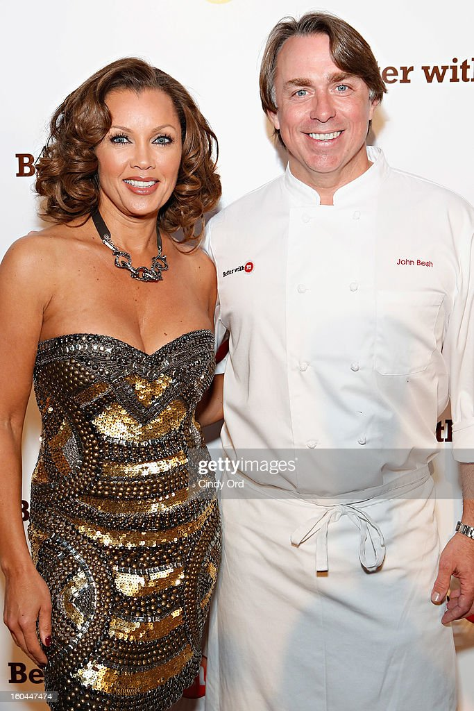 Singer/ actress Vanessa Williams and chef John Besh attends the M&M's Better With M Party at The Foundry on January 31, 2013 in New Orleans, Louisiana.