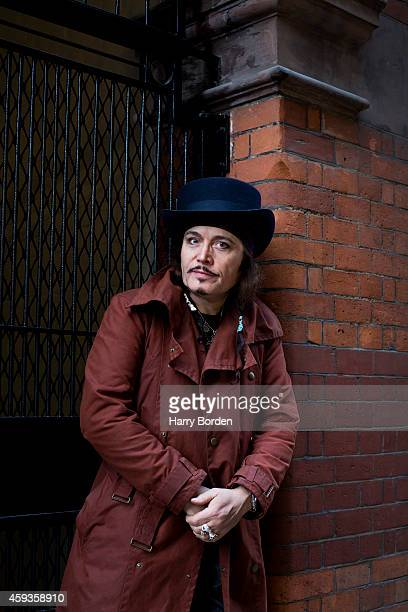 Singer Adam Ant is photographed for the Sunday Times magazine on January 21 2014 in London England